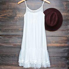 Ryu whimsical fairytale lace dress slip - white - shophearts - 1