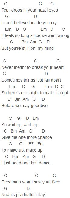 R5 - One Last Dance Chords