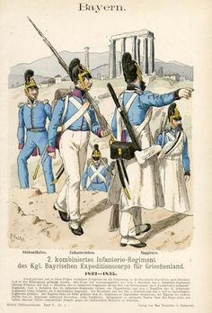 Bavarian Expeditionary Force, Greece, 1832-5