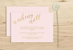 Wishing Well Card Printable Blush Pink Wedding by PucciPaperie