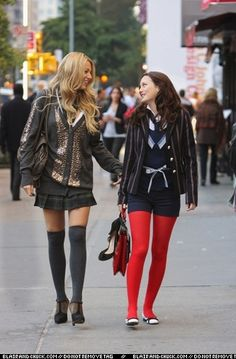 """25 Amazing Fashion Moments On """"Gossip Girl"""" Plaid Pleated Skirt, Sequin Cardigan, Slytherin Pride, Nanette Lepore, Teen Vogue, Blake Lively, Gossip Girl, T Strap, Leather Skirt"""