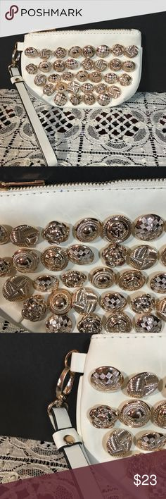 Super cool gold button WRISTLET 💥💥 Beautiful. For dressy or dress down. Bags Clutches & Wristlets