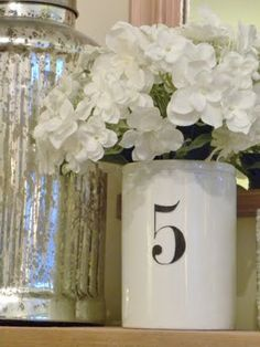 Love the numbered vase