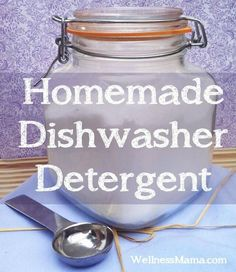 Homemade dishwasher detergent makes natural cleaning easy. Borax, washing soda, citric acid and salt make an effective and inexpensive natural option.