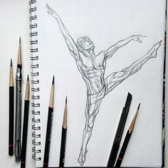 "Today a speed sketch in the movement. Of course, for the best spectator perception it is better to pack such ""scattered"" poses in a leaf in pairs or a series, but so there is a wish to sort out in dynamic reduction of muscles. Especially as this rapid movement in itself is interesting, the rush is sharp and expressive, the plastics is emotional.  Сегодня быстрая зарисовка в движении. Конечно, для лучшего зрительского восприятия такие ""разбросанные"" позы лучше компоновать в листе попарно или…"