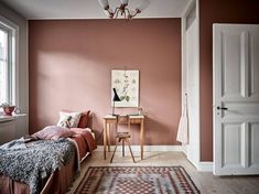 Schlafzimmer Source Home Decor Budget, Home Decor on a budget, Home Deco Pink Bedroom Walls, Bedroom Colors, Home Bedroom, Bedroom Ideas, Master Bedroom, Bedroom Decor, Bedroom Wardrobe, Pink Walls, Bedroom Lighting