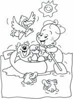 Tomke kleurplaat 'boatsje farre'/ Tomke kleuplaat bootje varen Snoopy, Fictional Characters, Fantasy Characters