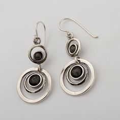 100% SOLID 4mm Facet Cabs / 6mm Facet Cabs 925 Sterling Silver Earrings With Onyx Stone