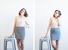 How to sew a reversible Mabel skirt