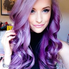 Lilac - Lavender #hair #pastel #bright #bold #dyed #coloured