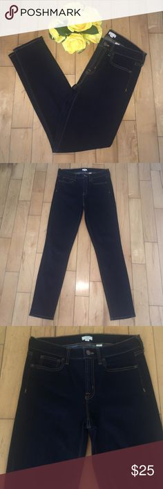 "• j. crew • Stretch Jeans • dark wash • Stretch dark wash jeans. Material: cotton, polyester, and elastane. Dimensions: 36.5"" long,  27.5"" inseam, and 13.5"" waist across front. Jeans are in great condition. J. Crew Jeans Skinny"