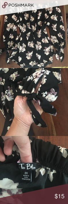 Time To Bloom black off the shoulder top Beautiful silky top, it would look amazing with a brown belt over some jeans and cute sandals or heels. Time To Bloom Tops