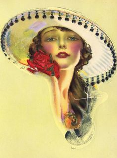 Rolf Armstrong 'Lovely Lady Lou' 1930s