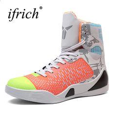 Pánské basketbalové tenisky Vysoká top basketbalová obuv pro muže Černo    zelená obuv Tréninkové muži Kožené 7159852312