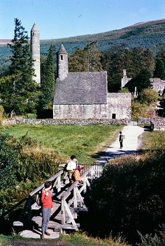 This photo was taken in September 1961 in Glendalough, Wicklow (Ireland)