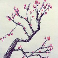 【vince.z.art】さんのInstagramをピンしています。 《桜🌸。Cherry Blossom Tree. Sorry I had to repost. . . . . . . . .#桜 #千本桜 #好き #きれい #綺麗 #さくら #アニメ #マンガ #漫画 #絵 #美術 #アート #フォロー #すき #like4like #cherryblossom #japaneseart #日本 #japan #sakura #anime #manga #art #sketch #drawing #beautiful #traditionalart #cherrytree #japanesecherryblossom #like4like》