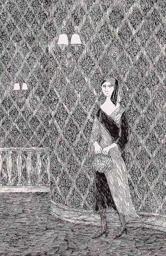 "Edward Gorey.....SO MUCH LIKE THE"" PBS"" MYSTERIES OF LONG-TIME AGO.....THE LADY WOULD SIGH MOURNFULLY AND YOU SUNK DOWN IN YOUR SEAT TO BE SCARED.......ccp"