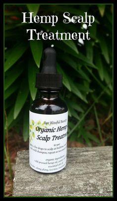 $12.99 HEMP OIL SCALP Treatment Hempseed Oil Natural by BeeBlissfulBeauty