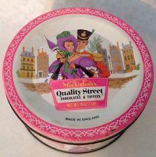 Vintage Mackintosh's Quality Street Chocolates & Toffee Tin Made In England 1960's