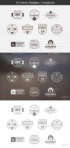 Blacksmith Badges - PSD Template • Only available here ➝ http://graphicriver.net/item/blacksmith-badges/14727493?ref=pxcr