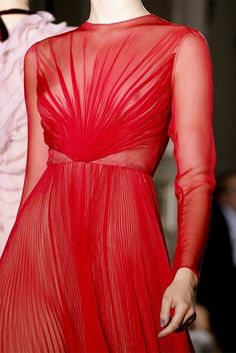 Valentino Fall 2012 Couture  I would love to own a Valentino red dress.