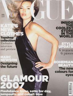 April 2007 Kate Moss wears a lamé minidress, £55, Kate Moss Topshop. All make-up by Rimmel. Hair: Sam McKnight. Make-up: Val Garland. Nails: Marian Newman. Fashion Editor: Kate Phelan. Photographed by Nick Knight.