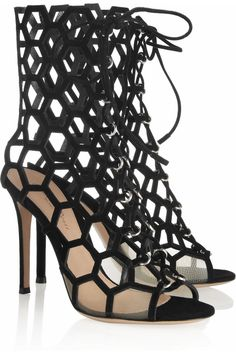 Gianvito Rossi | Cutout suede sandals