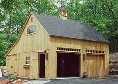 For the basketball area or old house (goat/chicken house) Country Carpenters, Inc. New England Style Post and Beam Carriage . Pole Barn Kits, Pole Barn House Plans, Pole Barn Homes, Barn Plans, Shed Plans, Pole Barns, Plan Garage, Garage Ideas, Carport Garage