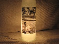 Personalized Picture Decorative Lighted Wine by UniqueWineBottles, $25.00