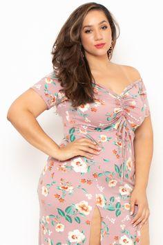Plus Size Floral M-Slit Meg Dress - Mauve Source by Trendy Plus Size Clothing, Plus Size Fashion For Women, Plus Size Dresses, Plus Size Outfits, Plus Size Girls, Plus Size Women, Plus Size Summer Outfit, Stylish Plus, Curvy Women Fashion