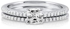 #Berricle                 #ring                     #Cushion #Cubic #Zirconia #Sterling #Silver #Bridal #Ring #0.46 ##r647-CL     Cushion Cut Cubic Zirconia Sterling Silver 2Pc Bridal Ring Set 0.46 ct #r647-CL                                                   http://www.seapai.com/product.aspx?PID=1263525