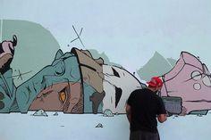 Work In Progress by @rebel_same84 #globalstreetart #mural http://globalstreetart.com/same84