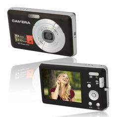 This camera has a digital zoom, focus, lighting ring, auto shut down, TFT screen and many more! Cool Things To Buy, Stuff To Buy, Digital Camera, Technology, Electronics, Phone, Black, Ring, Lighting