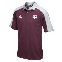 Texas A M Aggies adidas 2016 Football Coaches Sideline climalite Polo -  Maroon Gray 86c258bad8caa