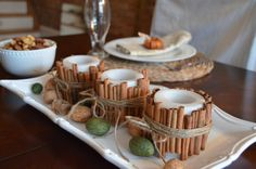 Cinnamon Stick Candles via Home Stories A to Z
