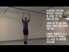 Instruction video on 'Jumping Pull Ups' Pull Up Bar, You Videos, Exercises, Routine, Bring It On, Positivity, Feelings, Fitness, Free