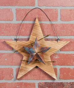 "Look what I found on #zulily! Barbed Wire Barn Star Wall Art #zulilyfinds Ohio wholesale 11""/$15"