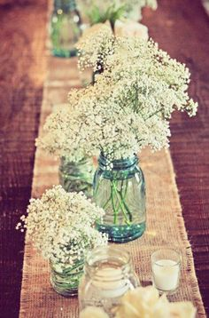 mason jar rustic wedding centerpieces ideas