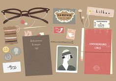 This little illustration by Clare Owen seems like the perfect desktop or print for the Well-Appointed Desk. Wouldn't you agree? I'm ready for an adventure on the QEII to London, Paris and beyond! Happy New Year, Well-Appointed Desk Set! (via Clare Owen) Art And Illustration, Illustration Mignonne, Illustrations Posters, Illustration Example, Planner Stickers, Doodles, Wow Art, Art Graphique, Art Design