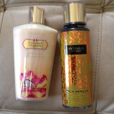 Victoria secret Fragrances mist rich vanilla 250 ml and body lotion coconut passion 250 ml Victoria's Secret Makeup