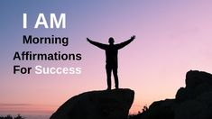 I Am affirmations for success. Must watch. Morning Affirmations, Positive Affirmations, Too Late Quotes, Confidence Boosters, Life Without You, Motivational Quotes For Students, Quote Of The Week, How To Stop Procrastinating, Meditation Quotes