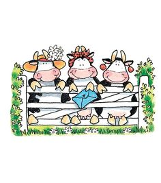 ☀ Penny Black, Inc. ☀ Rubber Stamps, Stickers ☀ Penny Black, Inc. Penny Black Karten, Penny Black Cards, Penny Black Stamps, Cute Images, Cute Pictures, Pocket Letter, Cow Craft, Cute Cows, Illustration