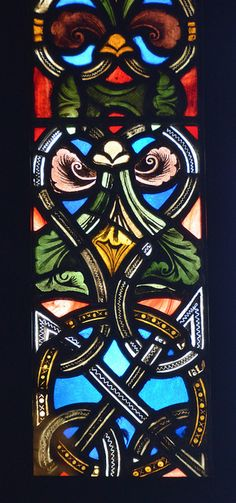 Stained glass window border