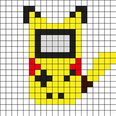 Pickachu_Gameboy by on Kandi Patterns Kandi Patterns, Pearler Bead Patterns, Perler Patterns, Beading Patterns, Pokemon Perler Beads, Diy Perler Beads, Perler Bead Art, Animal Crossing Paths, Pearl Beads Pattern