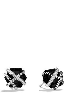 David Yurman 'Cable Wrap' Earrings with Semiprecious Stones & Diamonds available at #Nordstrom