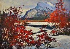 Rundle Through The Red by Linda Wilder Acrylic ~ 20 x 28