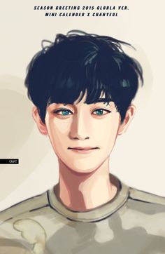 Chanyeol Seasons Grettings fanart.❄⛄ Cr: Ommgim