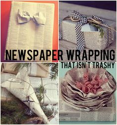 Avoid Wrapping Paper this Month by using Newspapers