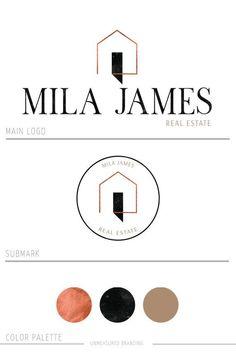 Set yourself apart with this modern home real estate logo. Business Branding, Logo Branding, Logos, Branding Design, Business Cards, Design Loft, Design Studio, Web Design, Graphic Design