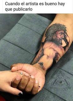 69 Ideas memes divertidos cristianos for 2019 Jesus Forearm Tattoo, Jesus Hand Tattoo, Jesus Tattoo Sleeve, Religious Tattoo Sleeves, Half Sleeve Tattoos Forearm, Cool Arm Tattoos, Chest Piece Tattoos, Best Sleeve Tattoos, Body Art Tattoos